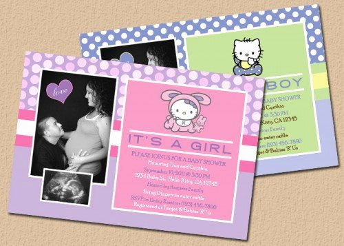 Hello Kitty Baby Shower Invites Fresh Hello Kitty Baby Shower Invitations