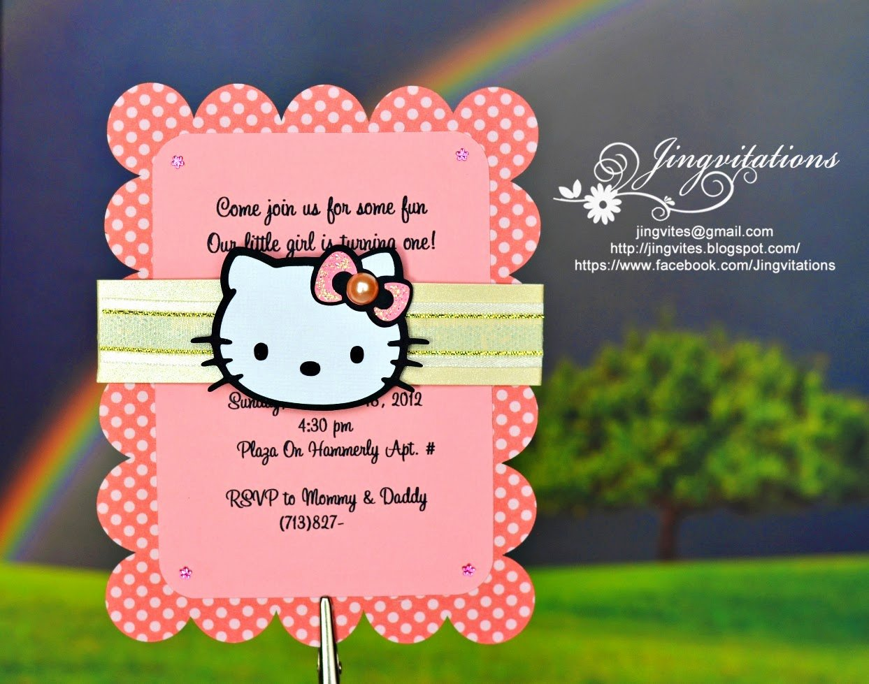 Hello Kitty Baby Shower Invites Unique Jingvitations Hello Kitty Baby Shower Baptism Birthday