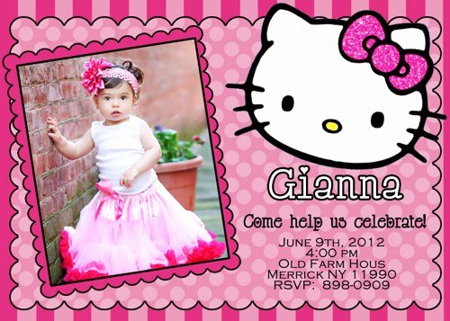 Hello Kitty Birthday Invitations Awesome Free Printable Hello Kitty Birthday Invitations