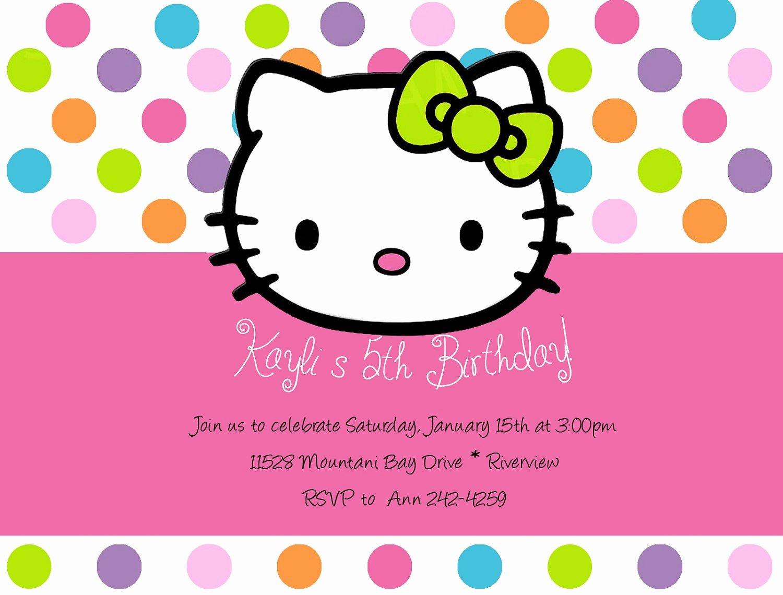 Hello Kitty Birthday Invitations Awesome Hello Kitty Invitations Vector