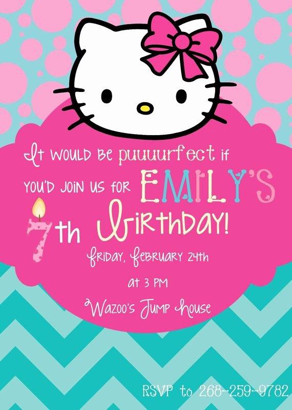 Hello Kitty Birthday Invitations Best Of Hello Kitty Birthday Invitation