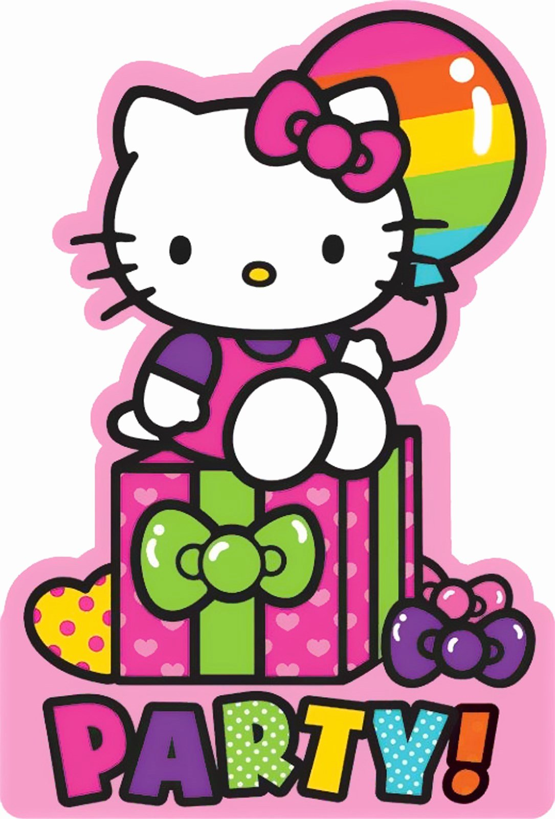 Hello Kitty Birthday Invitations Elegant Hello Kitty Rainbow Invitations 8