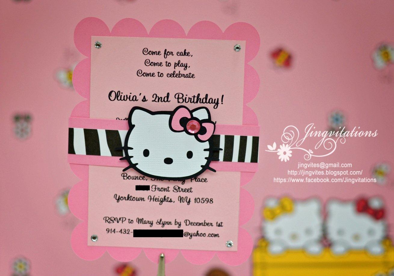 Hello Kitty Birthday Invitations Luxury Hello Kitty Safari Invitations