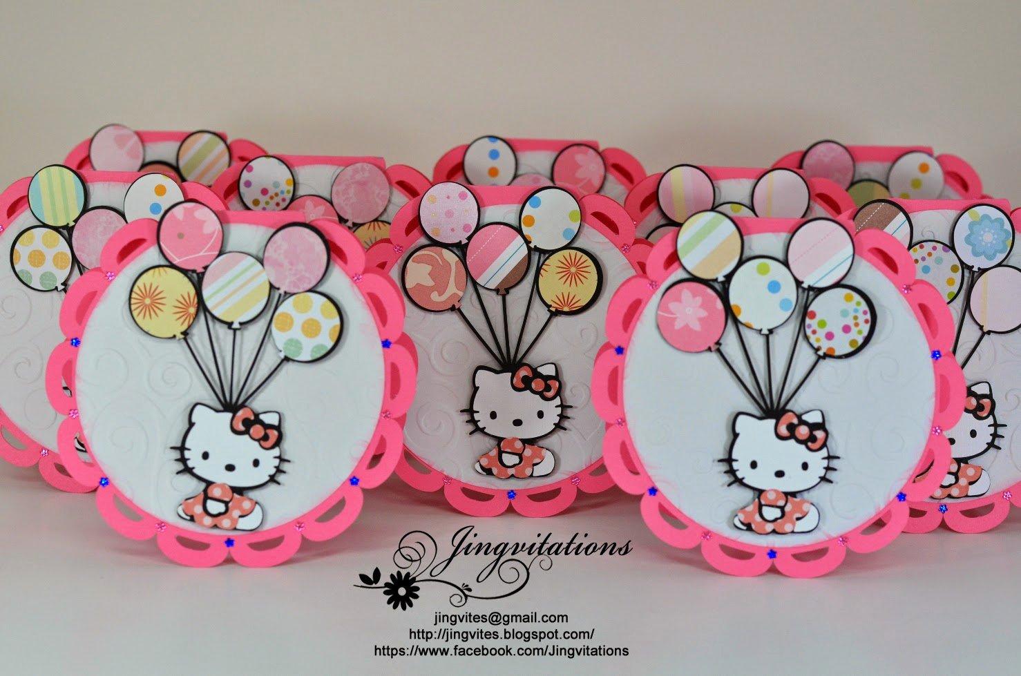 Hello Kitty Birthday Invitations Luxury Jingvitations Hello Kitty Birthday Party Invitations
