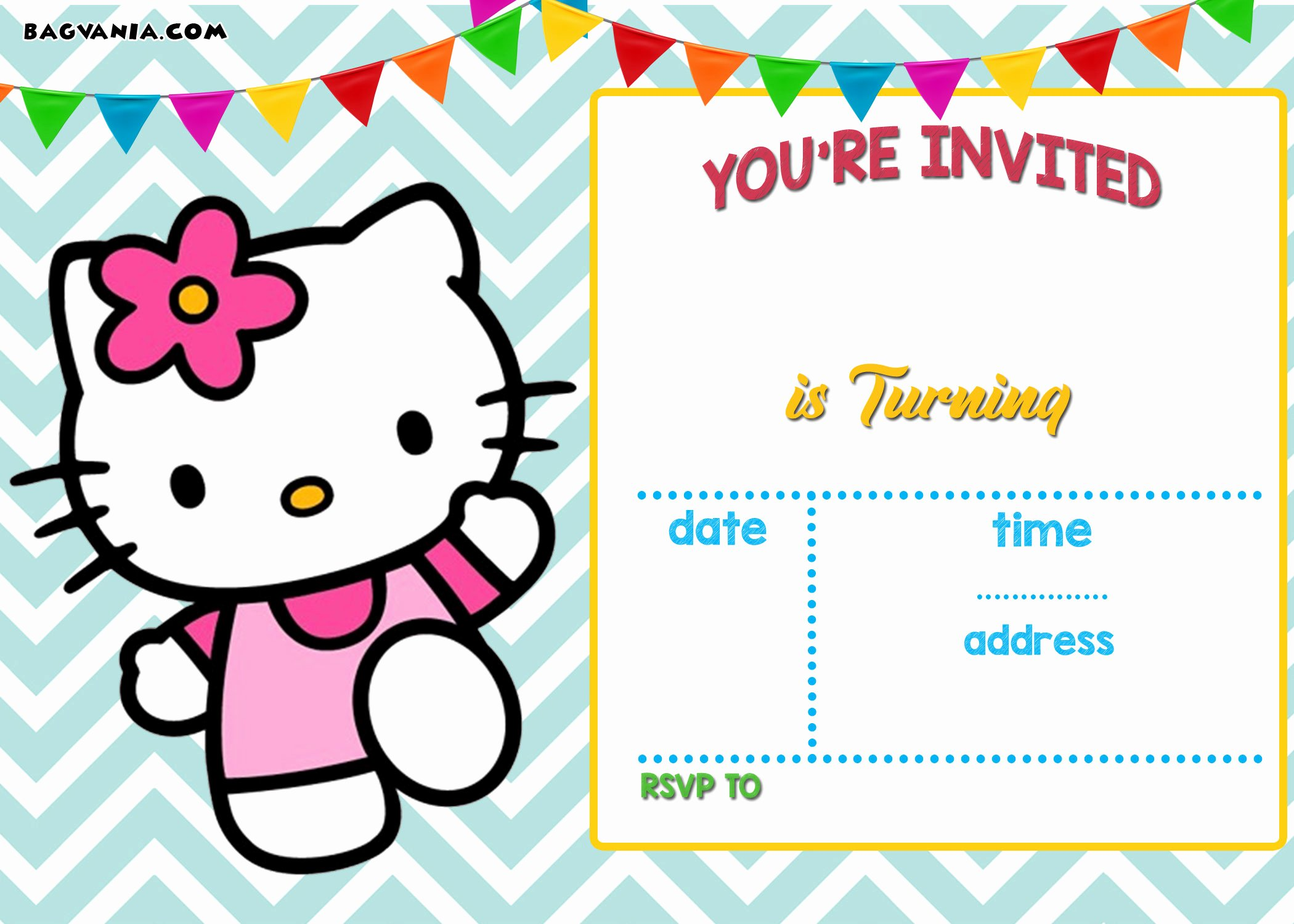 Hello Kitty Birthday Invitations New Free Personalized Hello Kitty Birthday Invitations