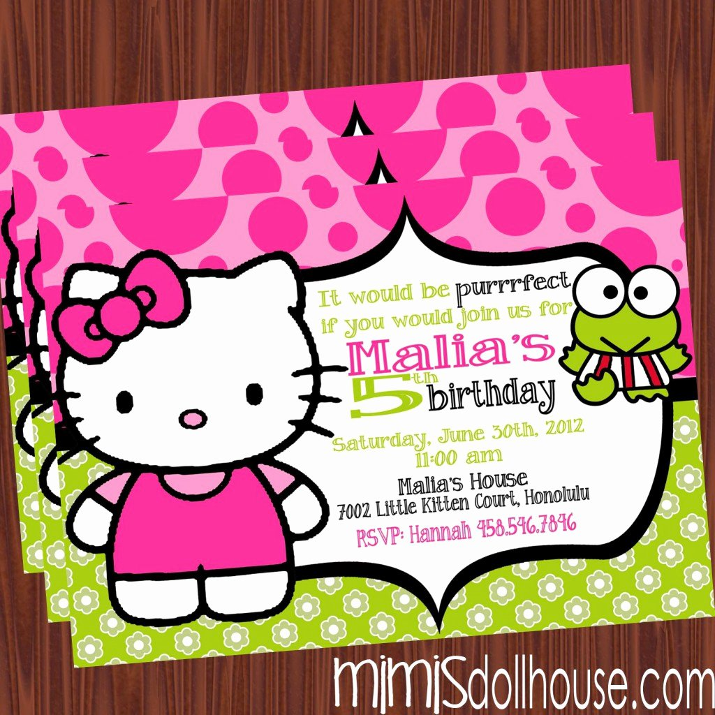 Hello Kitty Birthday Invitations New Free Printable Hello Kitty Birthday Party Invitations