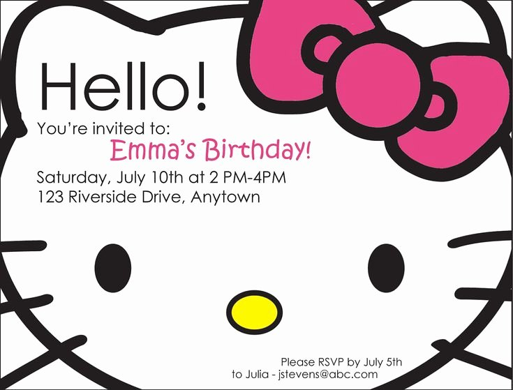Hello Kitty Birthday Invites Best Of 25 Best Ideas About Hello Kitty Parties On Pinterest