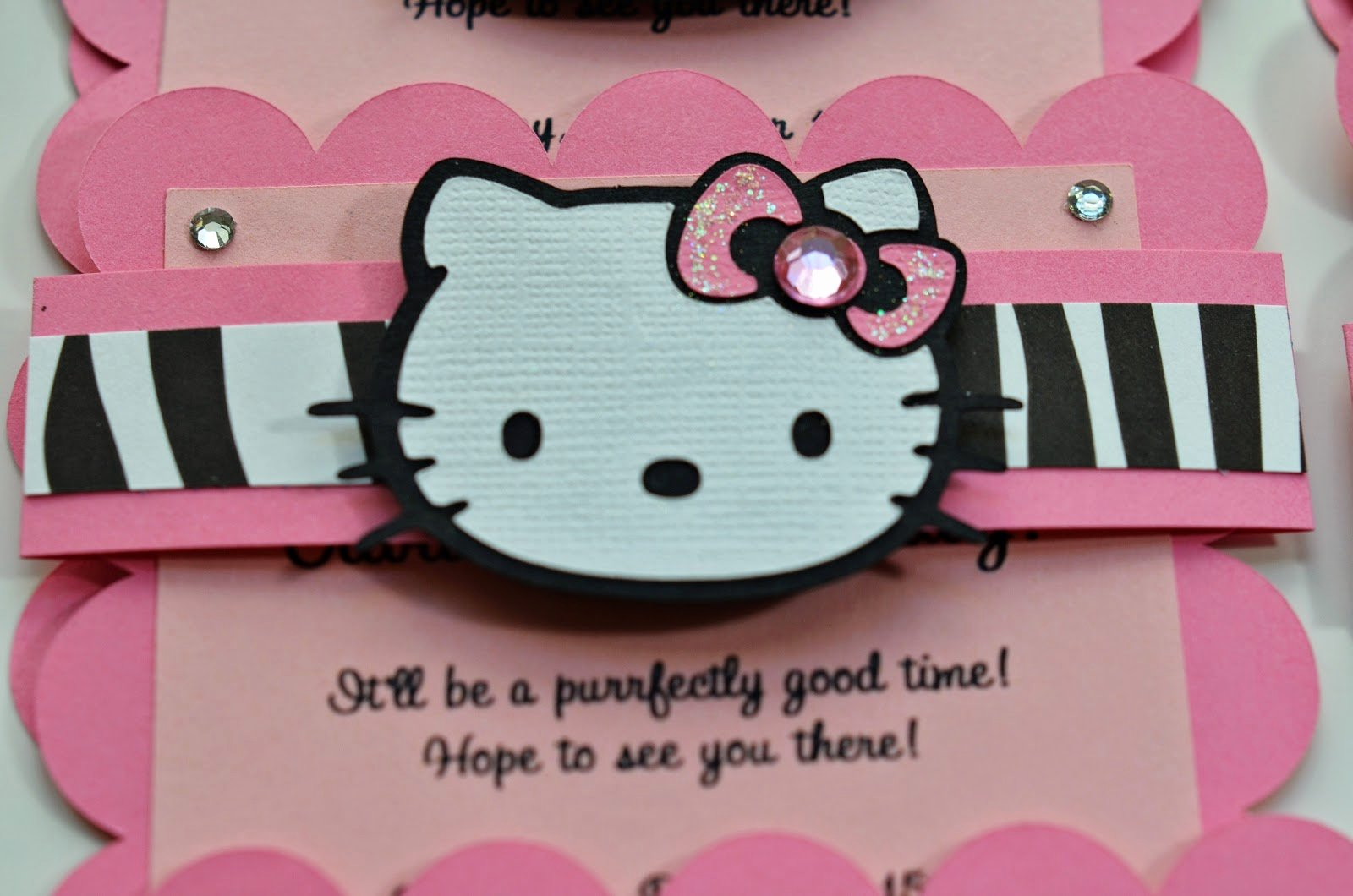 Hello Kitty Birthday Invites Elegant Jingvitations Hello Kitty Birthday Party Invitations