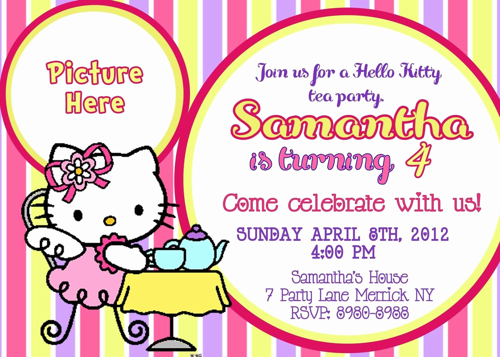 Hello Kitty Birthday Invites Fresh Free Printable Hello Kitty Birthday Party Invitations