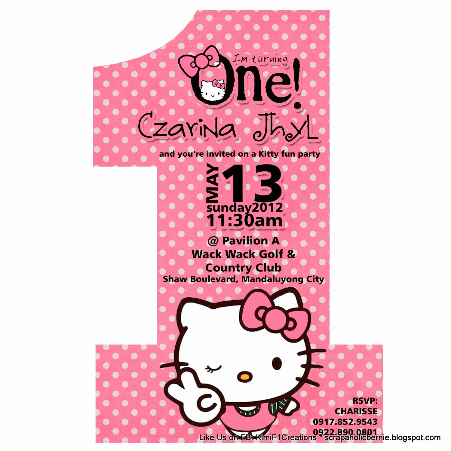 Hello Kitty Birthday Invites Fresh Hello Kitty Birthday Invitations Free Line No 1 Hello