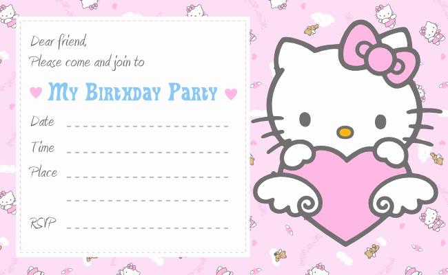 Hello Kitty Birthday Invites Inspirational Free Printable Hello Kitty Invitation Birthday Party