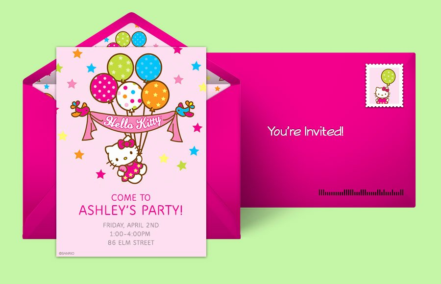 Hello Kitty Birthday Invites Luxury Free Hello Kitty Invitations Hello Kitty Line