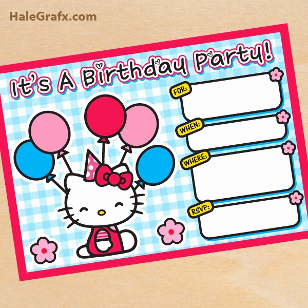Hello Kitty Birthday Invites Luxury Free Printable Hello Kitty Birthday Invitation