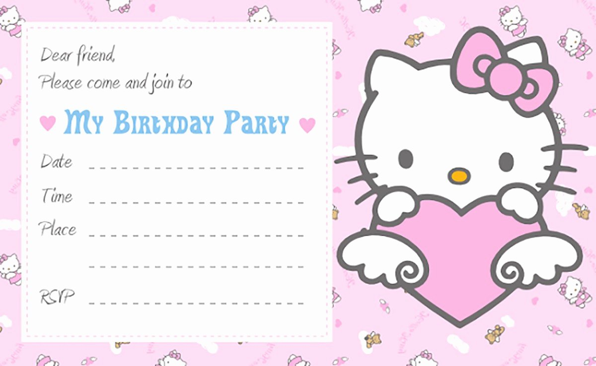 Hello Kitty Birthday Invites Luxury Hello Kitty Free Printable Invitation Templates
