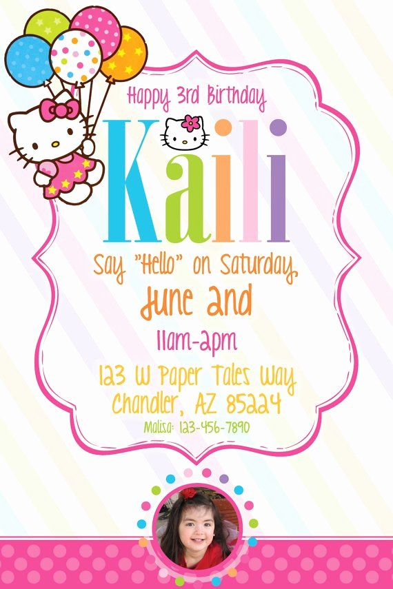 Hello Kitty Birthday Invites New 16 Best Images About Hello Kitty Birthday Invitations On