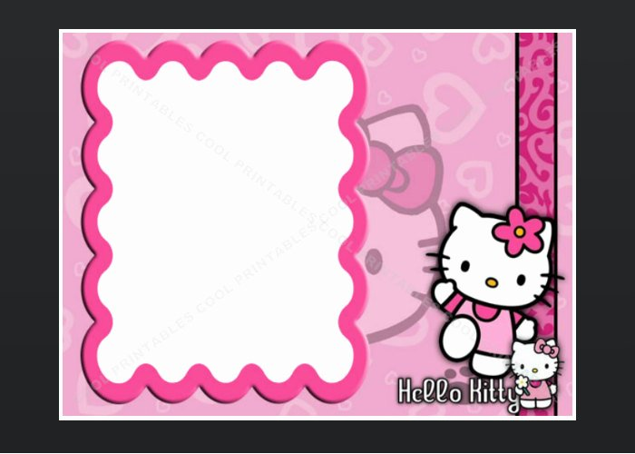 Hello Kitty Invitation Card Best Of Hello Kitty Blank Invitation Birthday Thank You by