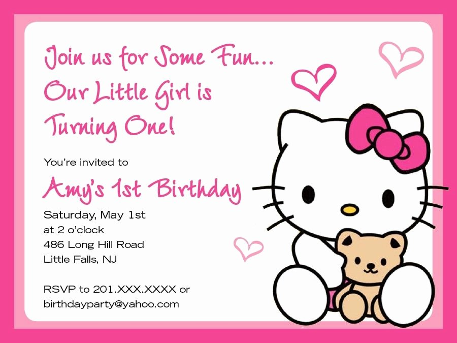 Hello Kitty Invitation Card Luxury C S Invite C S Birthday