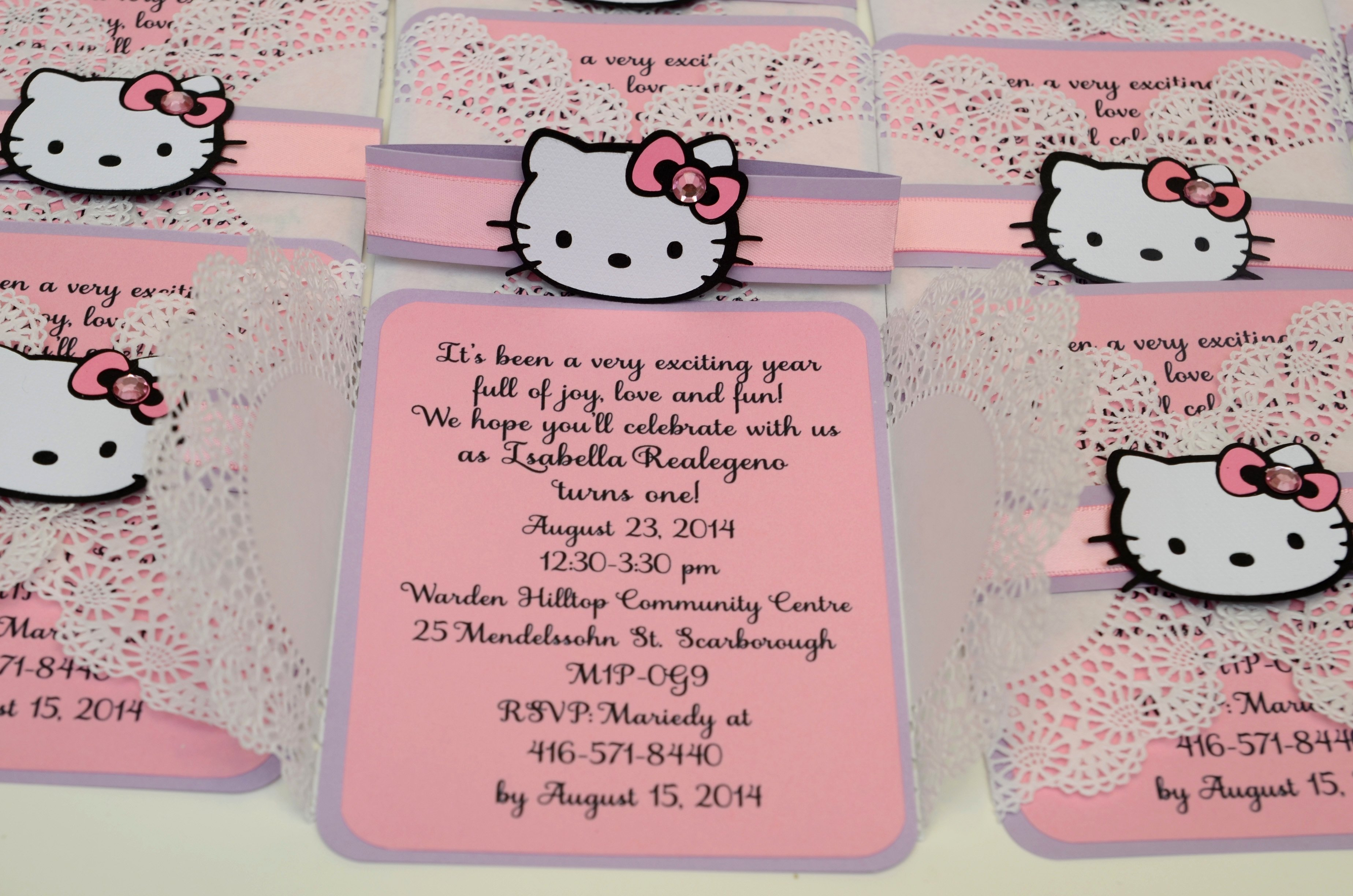 Hello Kitty Invitation Card Luxury Hello Kitty