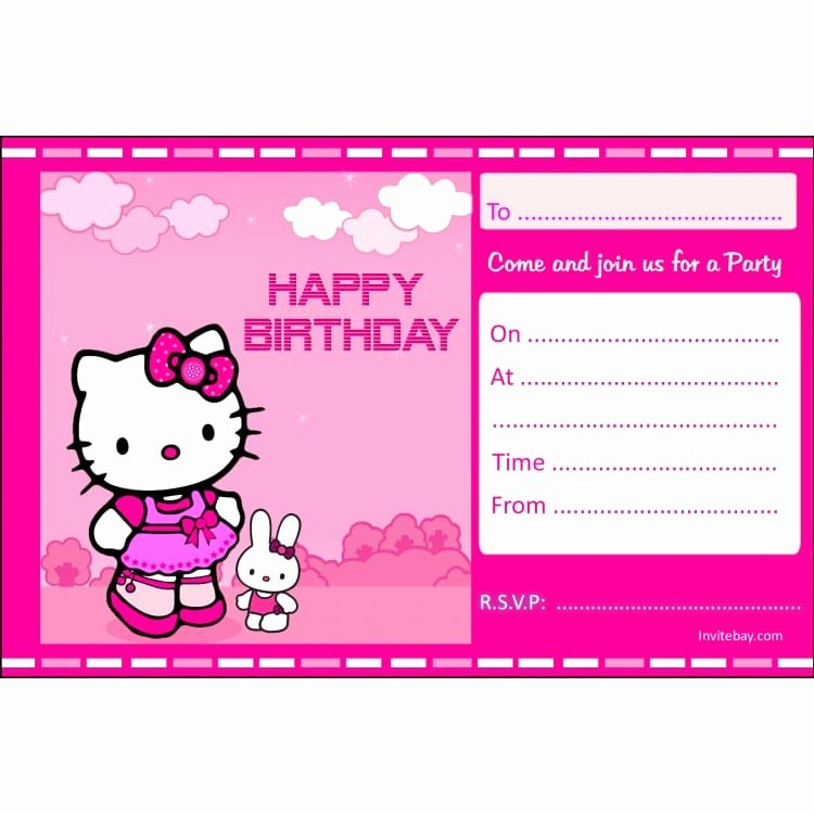 Hello Kitty Invitation Card Unique Hello Kitty Birthday Invitation Card