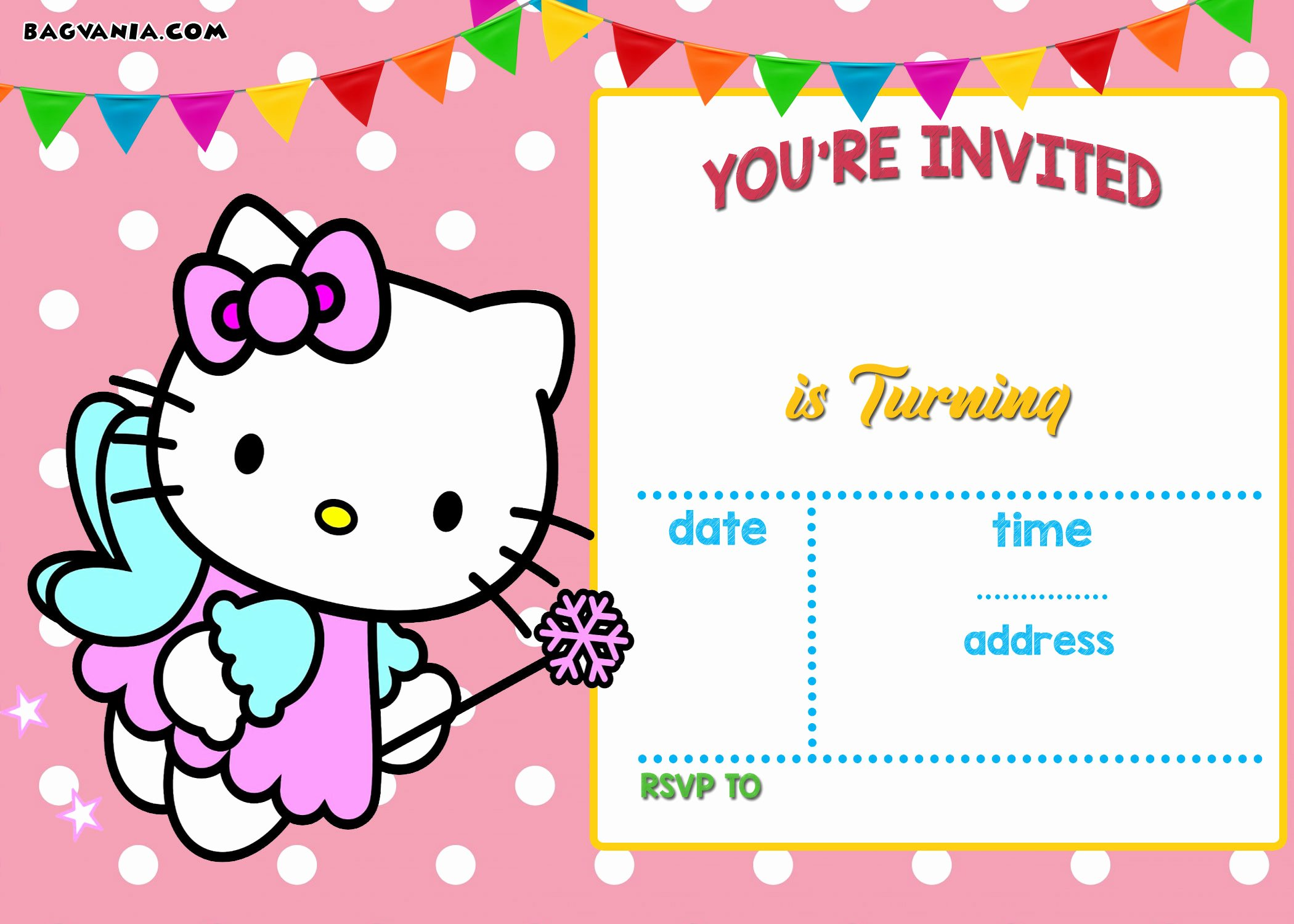 Hello Kitty Invitation Template Beautiful Free Personalized Hello Kitty Birthday Invitations
