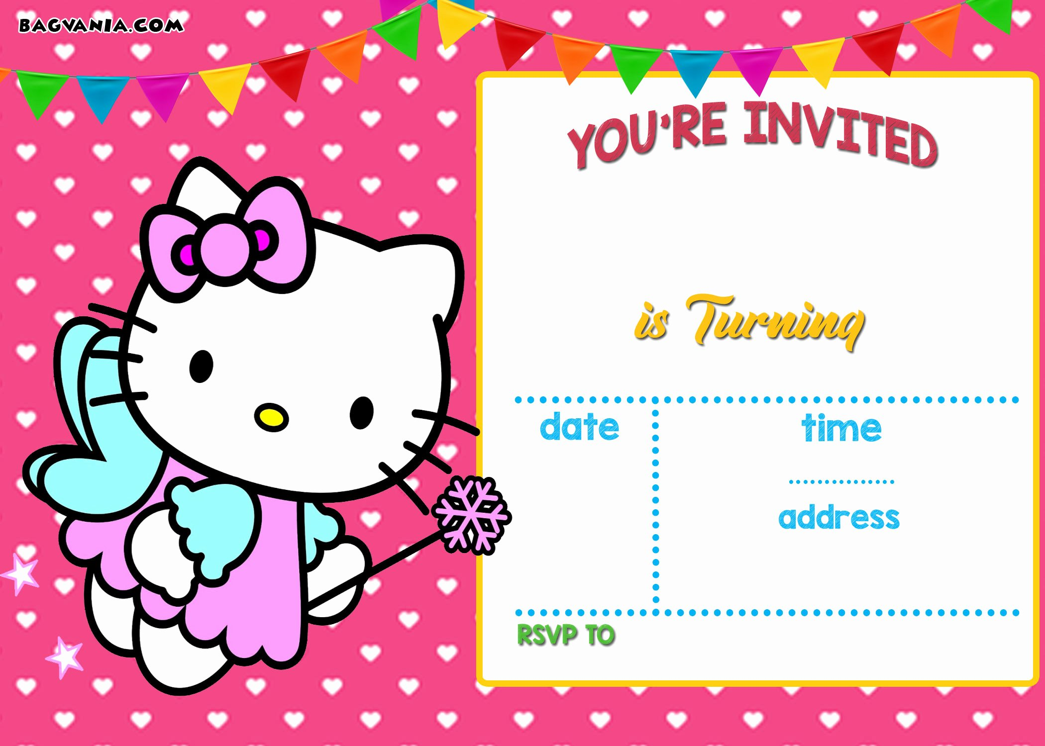 Hello Kitty Invitation Template Beautiful Personalized Hello Kitty Birthday Invitations Updated