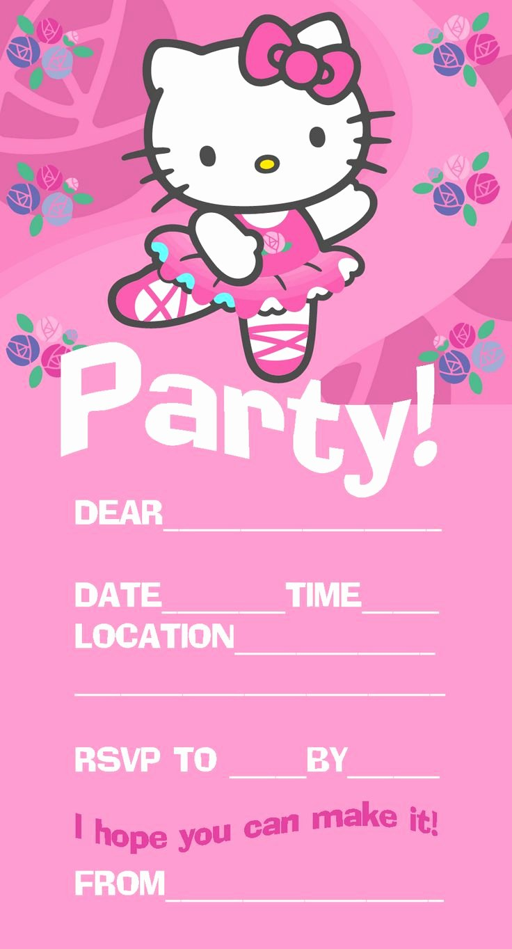 Hello Kitty Invitation Template Best Of 25 Best Ideas About Hello Kitty Invitations On Pinterest