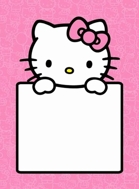 hello kitty empty invitation template