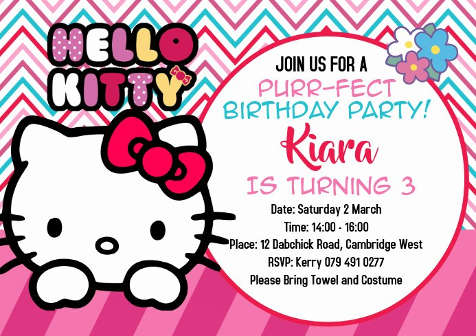 Hello Kitty Invitation Template Inspirational Hello Kitty Invitations Template