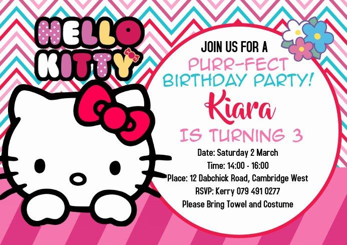 Hello Kitty Invitation Template Inspirational Hello Kitty Invitations Template