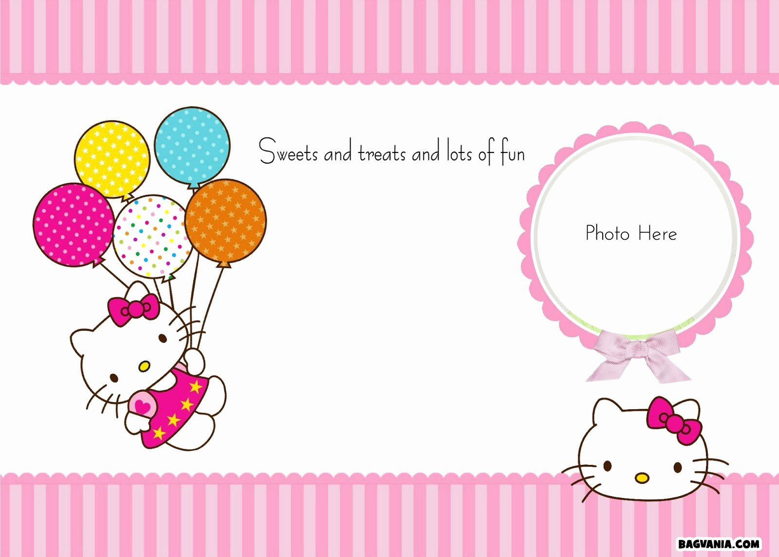 Hello Kitty Invitation Template Luxury Free Printable Birthday Invitations – Bagvania Free