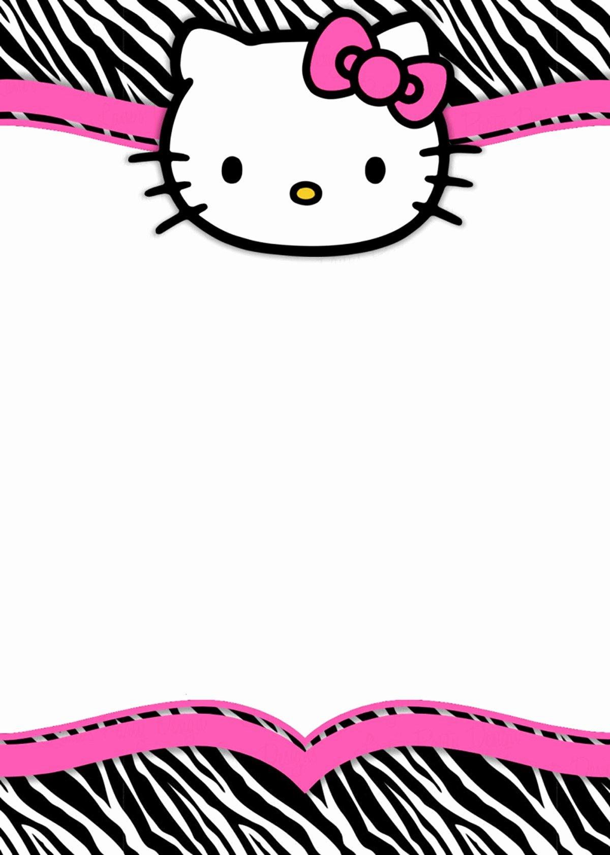 Hello Kitty Invitation Template Luxury Hello Kitty Free Printable Invitation Templates