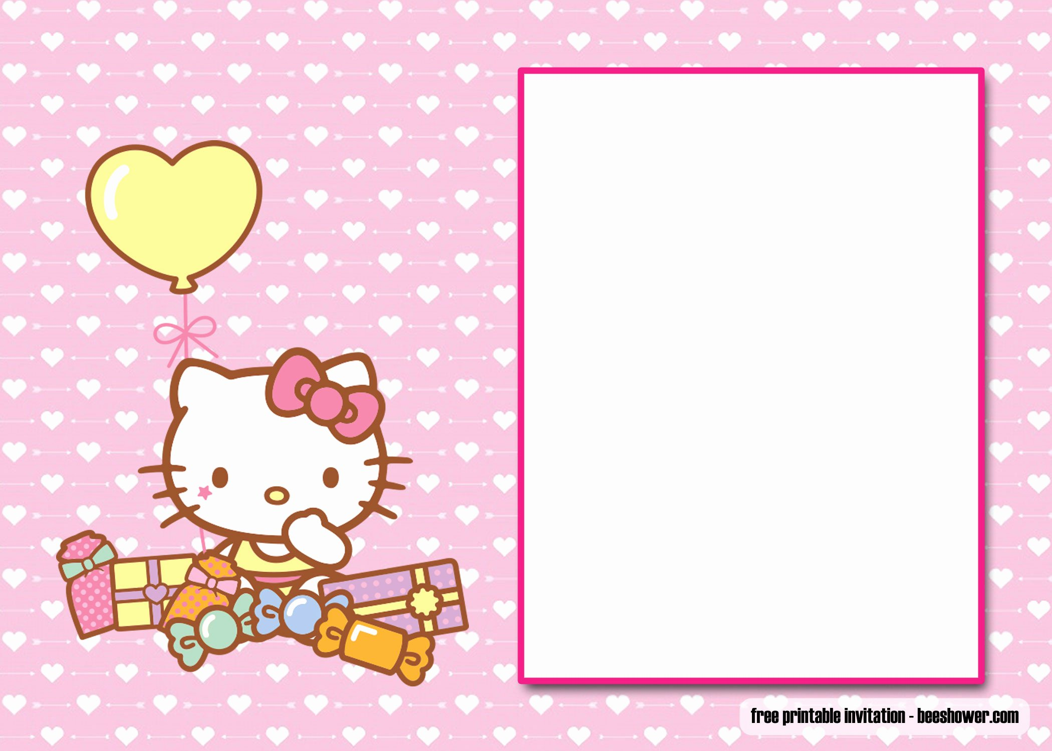 Hello Kitty Invitation Template Unique Free Perfect Hello Kitty Baby Shower Invitations