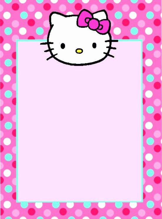 Hello Kitty Invitation Template Unique Hello Kitty Invitations Free Printables