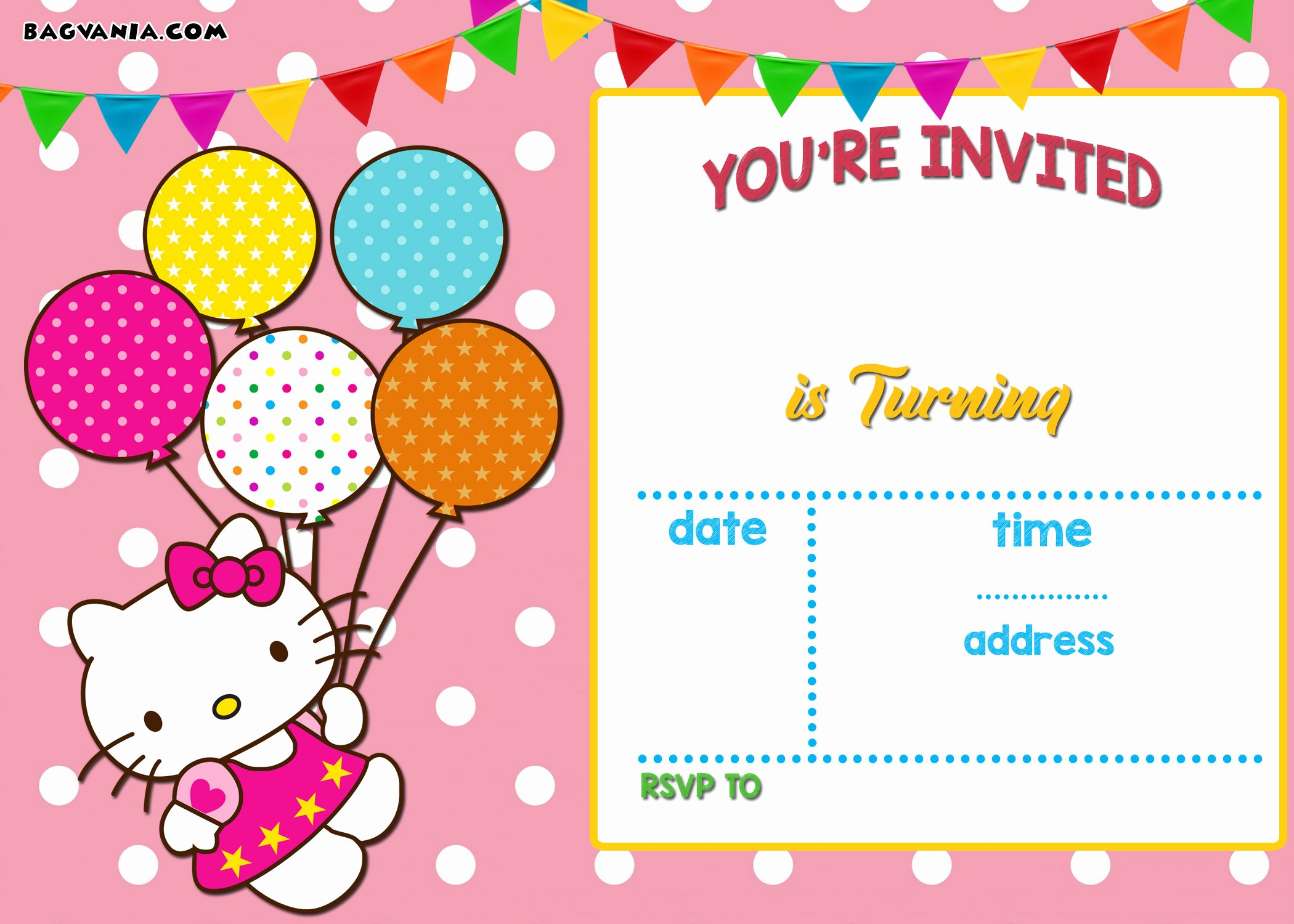 Hello Kitty Invitation Templates Beautiful Free Printable Hello Kitty Invitation Templates theme