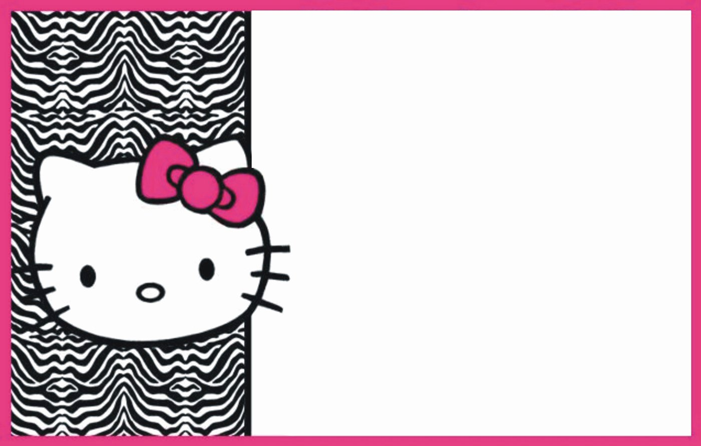 Hello Kitty Invitation Templates Beautiful Hello Kitty Free Printable Invitation Templates