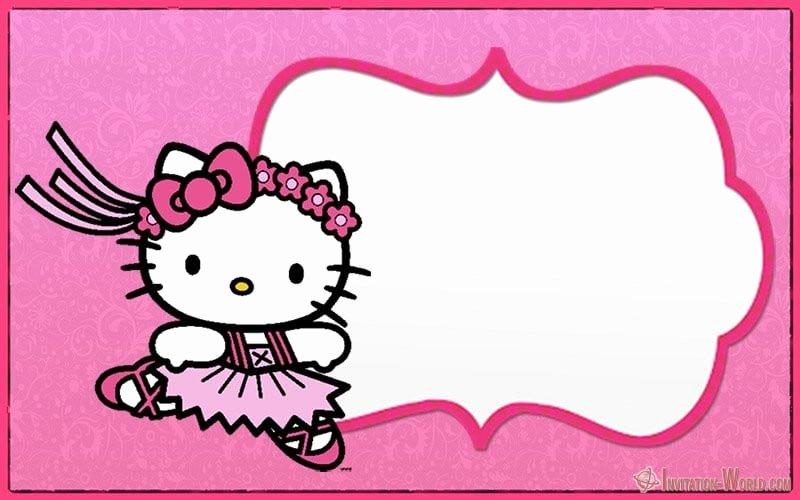 Hello Kitty Invitation Templates Beautiful Hello Kitty Invitations – Free Printable Templates