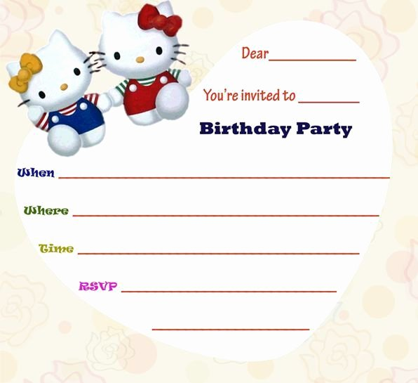 Hello Kitty Invitation Templates Elegant 30 Best Hello Kitty Invitations Images On Pinterest