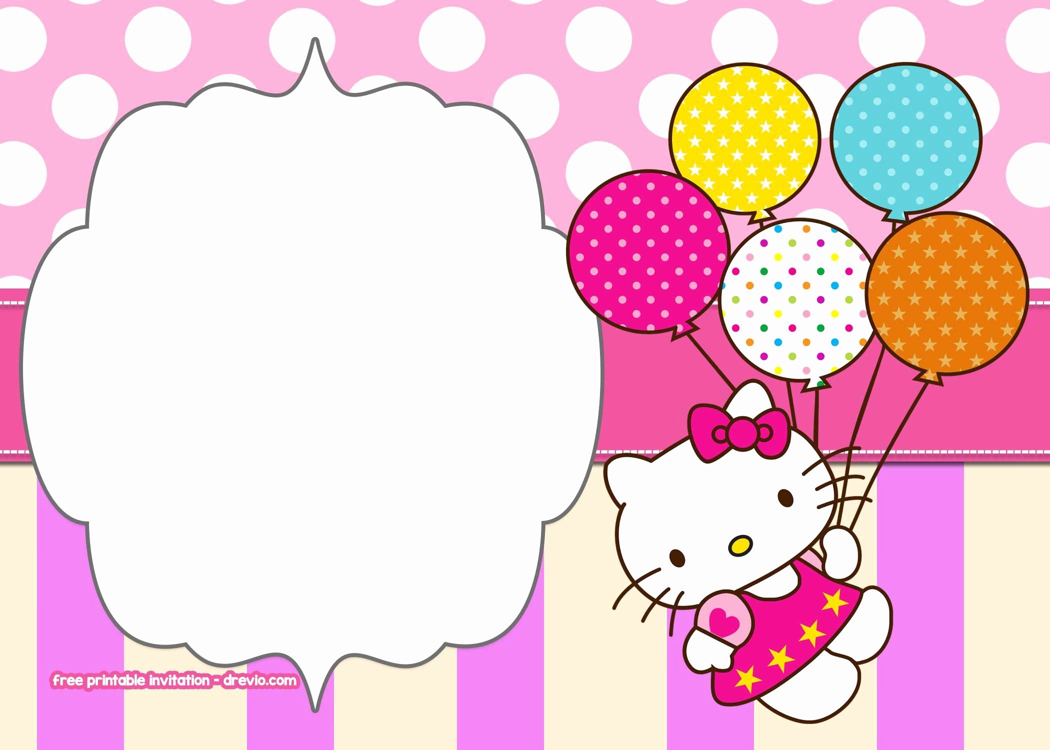 Hello Kitty Invitation Templates Unique Free Hello Kitty Birthday Invitation Templates – Free