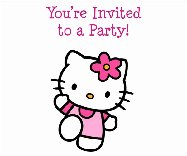 Hello Kitty Invite Template Awesome 52 Birthday Invitation Templates Psd Ai