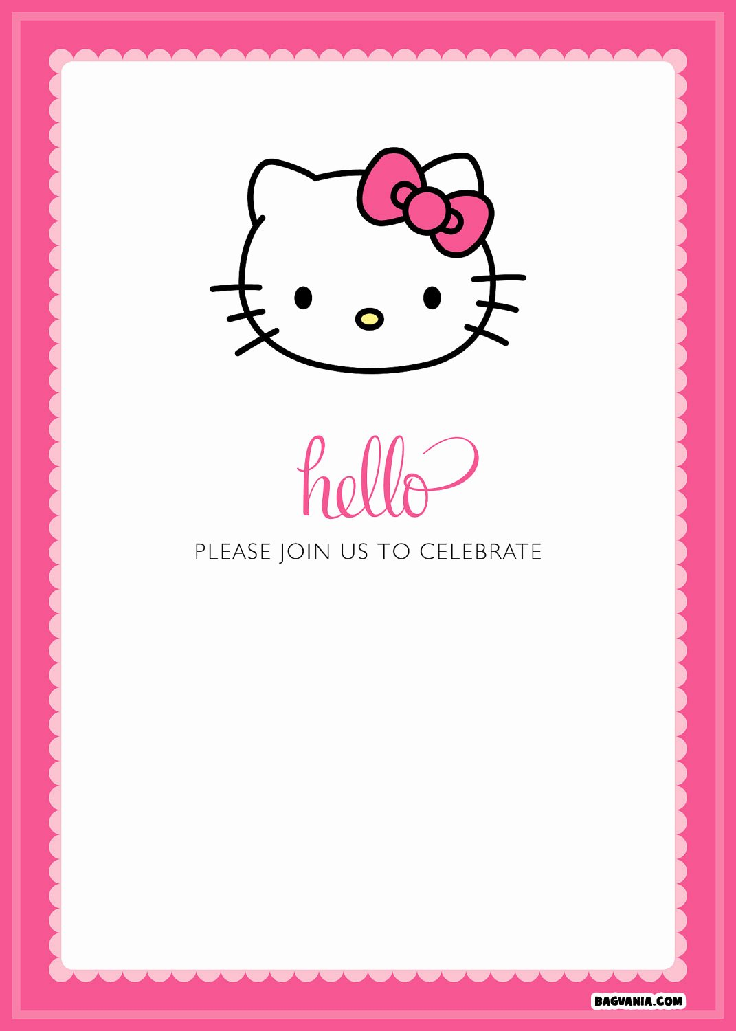Hello Kitty Invite Template Best Of Free Printable Hello Kitty Birthday Invitations – Free