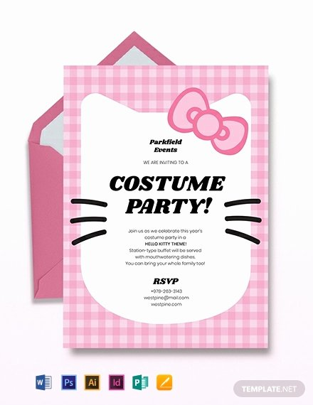 Hello Kitty Invite Template Elegant Free Hello Kitty Party Invitation Template Download 651