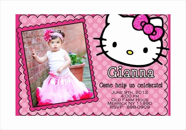 Hello Kitty Invite Template Fresh Hello Kitty Invitation Card Sample
