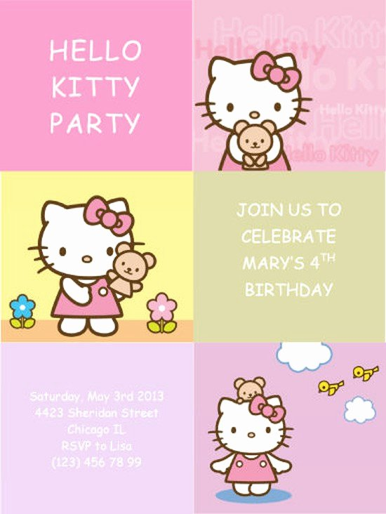 Hello Kitty Invite Template New Hello Kitty Invitations the Best Way to Begin Your Kid's