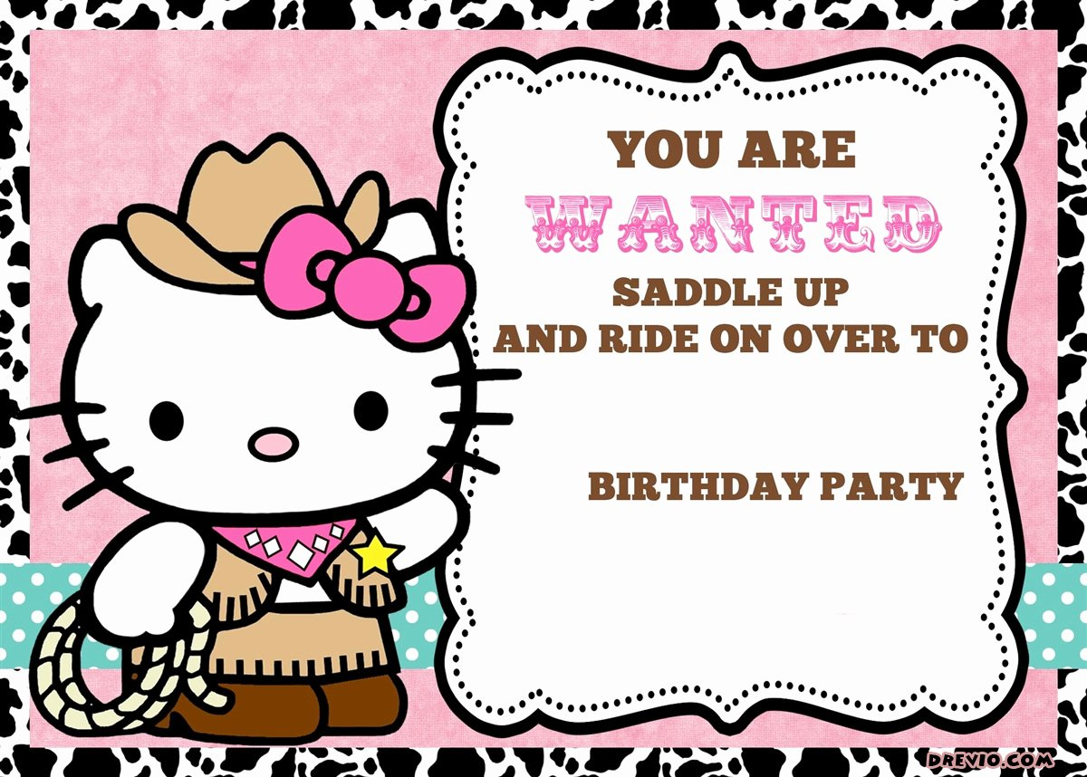Hello Kitty Invite Templates Best Of Free Personalized Hello Kitty Birthday Invitations
