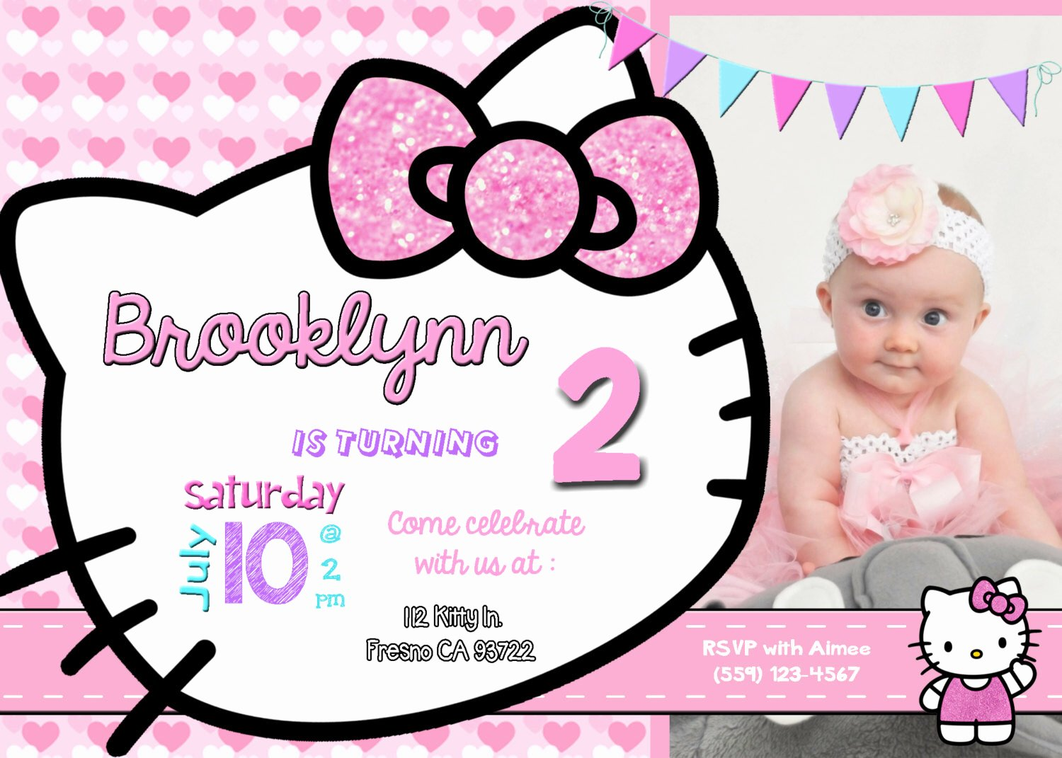 Hello Kitty Invite Templates Elegant Hello Kitty Background for Invitation