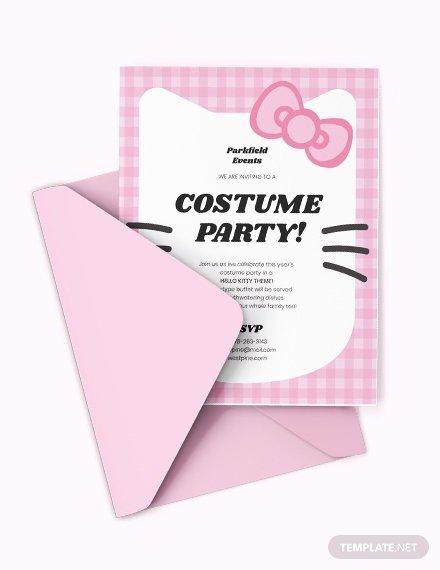 Hello Kitty Invite Templates Fresh Free Hello Kitty Party Invitation Template Download 515