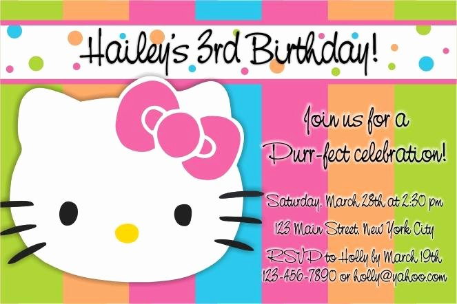 Hello Kitty Invite Templates Lovely Free Printable Hello Kitty 1st Birthday Invitations