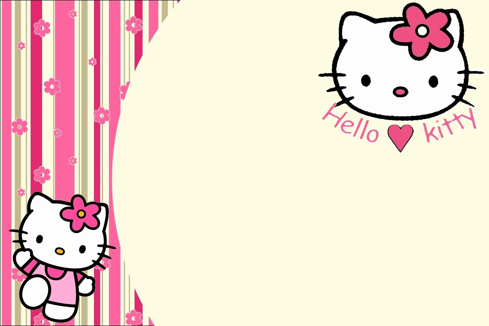 Hello Kitty Invite Templates New Hello Kitty Frame Wallpapers High Quality