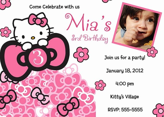 Hello Kitty Party Invite Awesome 65 Best Images About Hello Kitty Invitations On Pinterest