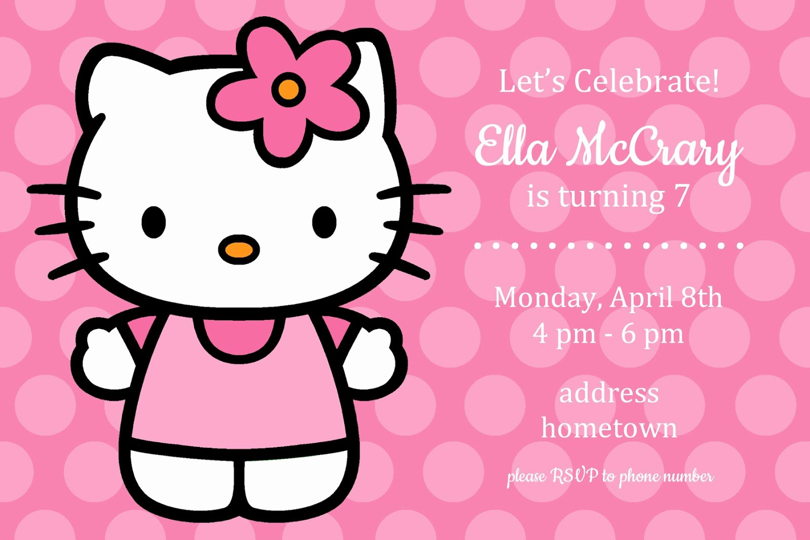 Hello Kitty Party Invite Awesome All Things Simple Simple Celebrations Hello Kitty Party